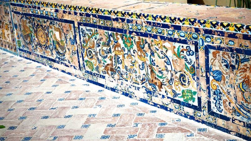 Mattonelle spagnole immagine stock