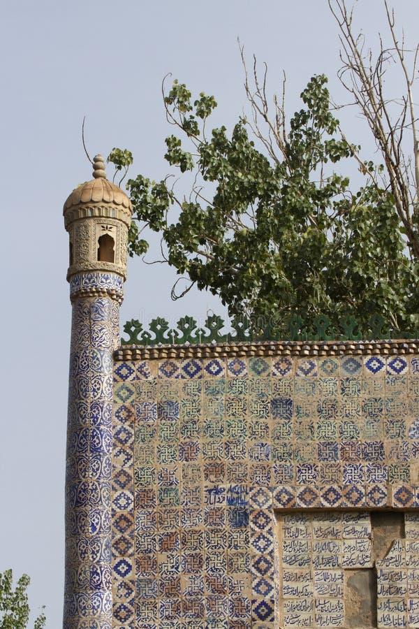 Mattonelle sull'entrata alla tomba del Concubine fragrante, Kashgar, Ch immagine stock libera da diritti