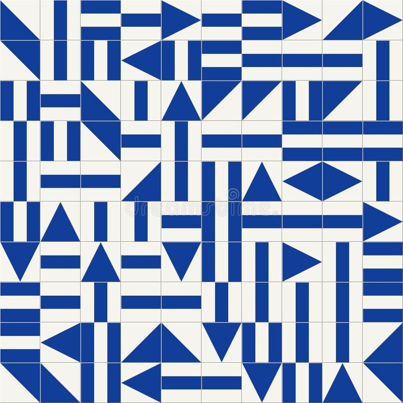 Mattonelle turche del modello senza cuciture splendido, marocchine, portoghesi bianche, Azulejo, ornamento illustrazione di stock