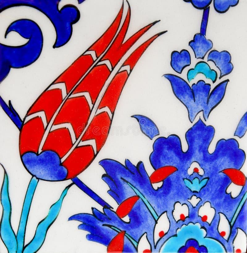 Mattonelle turche - disegno del tulipano immagine stock libera da diritti