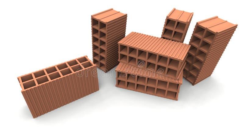 mattoni illustrazione di stock