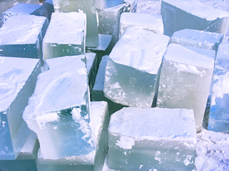 Mattoni del ghiaccio immagini stock