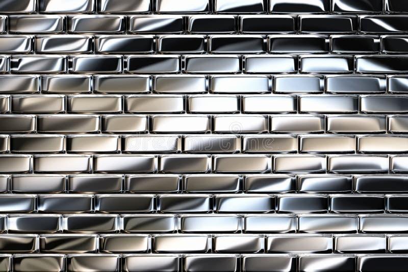 Mattoni del metallo illustrazione vettoriale