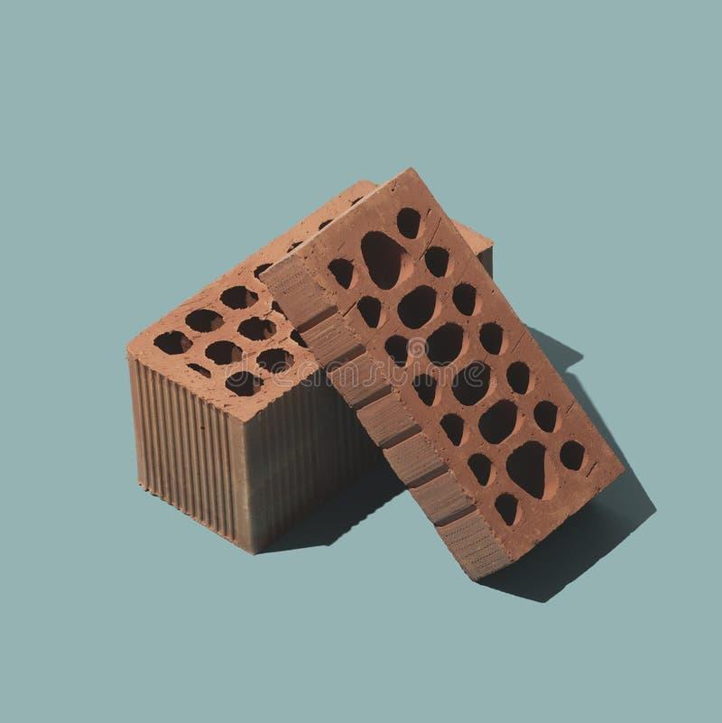 Mattoni dell'argilla per industria dell'edilizia illustrazione di stock