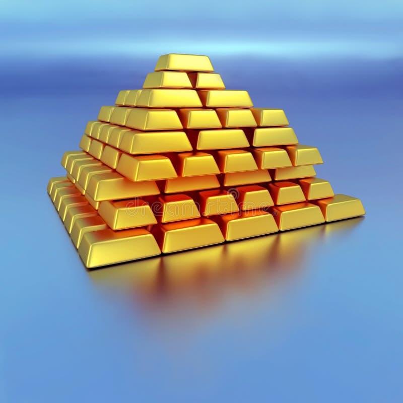 Mattoni dell'oro illustrazione vettoriale