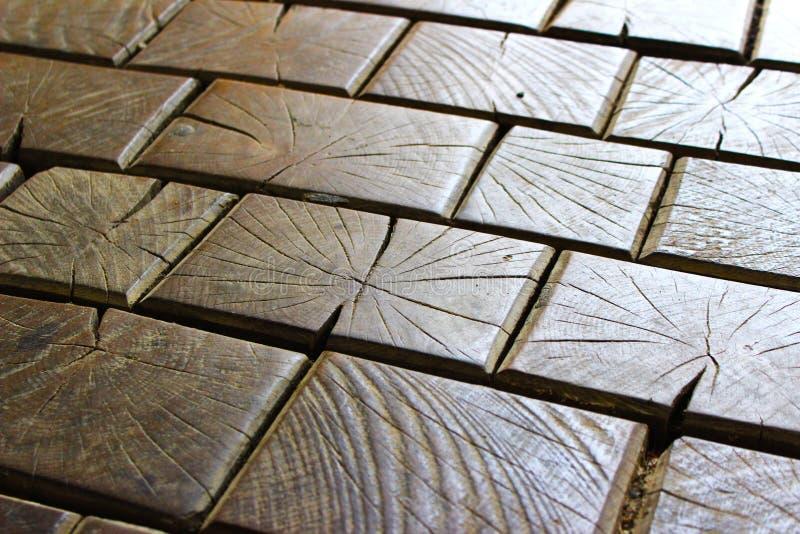 Mattoni di legno fotografia stock libera da diritti