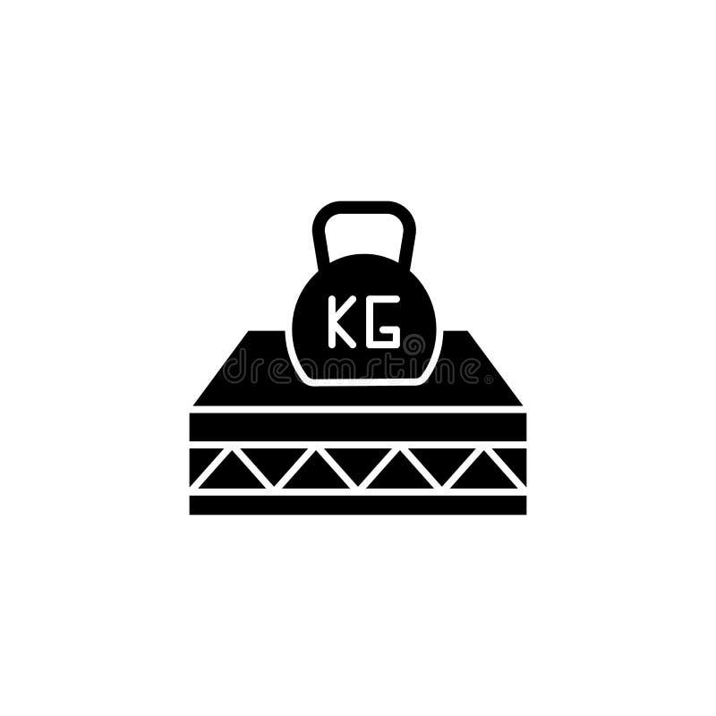 Mattress, peso, elasticidad, icono fuerte Facilidad simple para dormir iconos para ui y ux, sitio web o aplicación móvil libre illustration