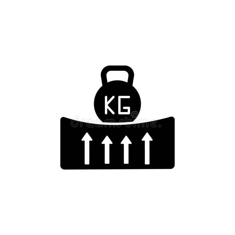 Mattress, peso, elasticidad, icono fuerte Facilidad simple para dormir iconos para ui y ux, sitio web o aplicación móvil stock de ilustración
