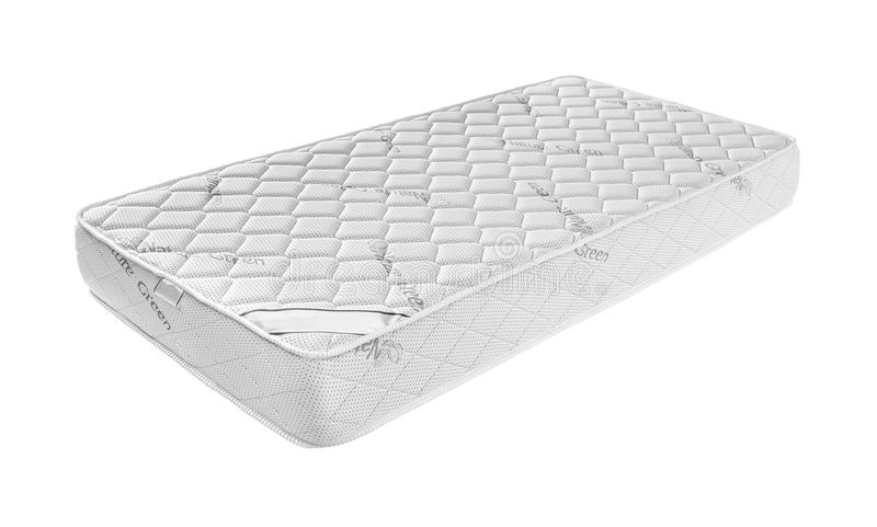 Mattress that supported you to sleep well all night isolated. On white background royalty free stock photography