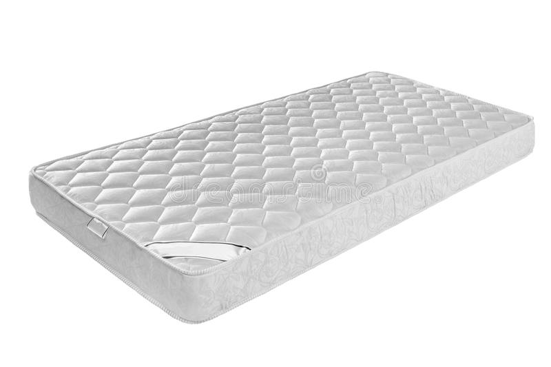 Mattress that supported you to sleep well all night isolated. On white background stock image