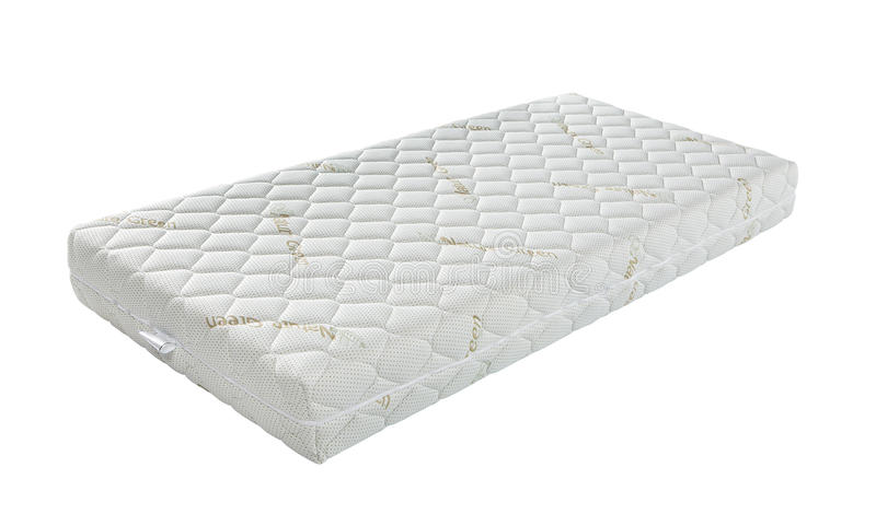 Mattress that supported you to sleep well all night isolated on. White background texture royalty free stock image