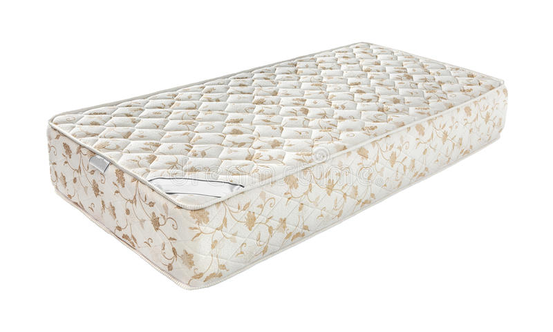 Mattress that supported you to sleep well all night isolated on royalty free stock photography