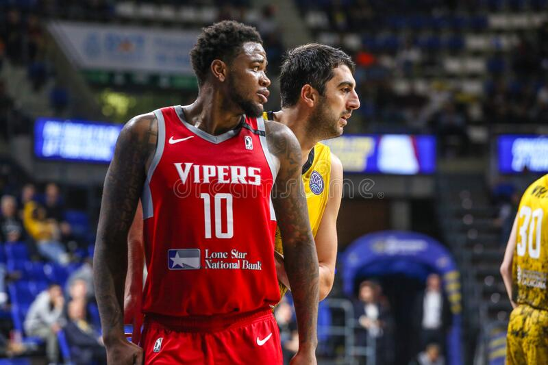 FIBA Intercontinental Cup Iberostar Tenerife vs Rio Grande Valley Vipers royalty free stock images