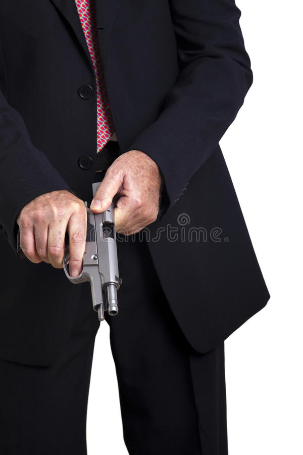 Download Cocking the Gun stock photo. Image of danger, holding - 29794882