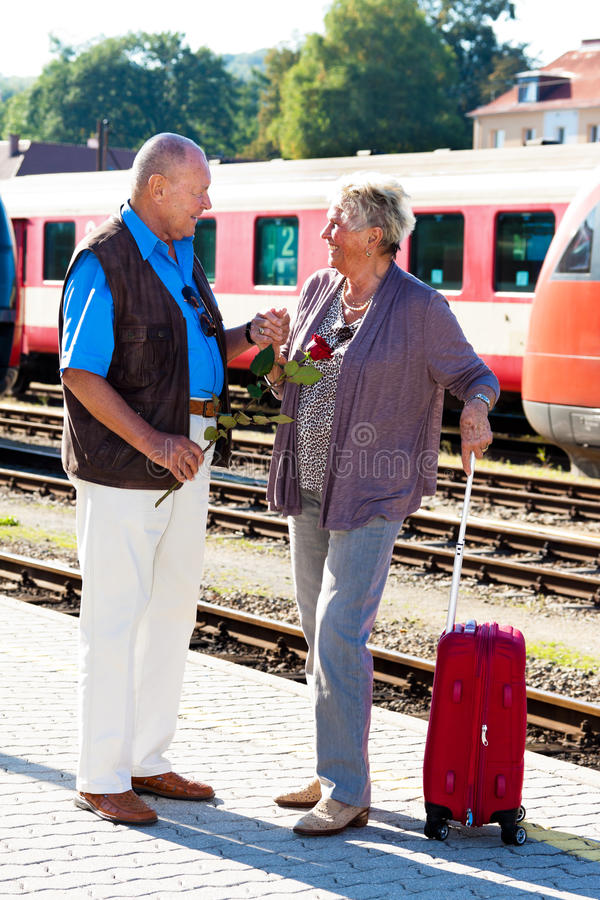 Mature aged couple at stock images