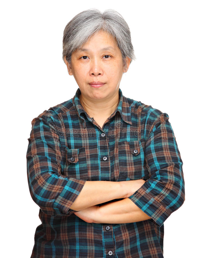 Download Mature asian woman stock photo. Image of black, isolated - 23779456
