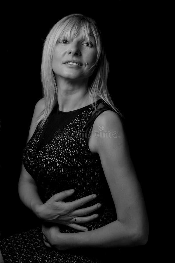 Mature blond woman - slavic stock image