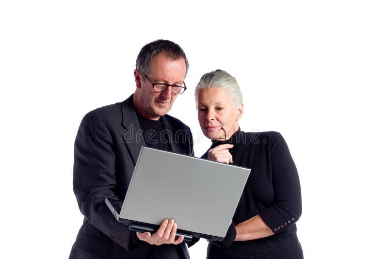 Mature business couple stock photo