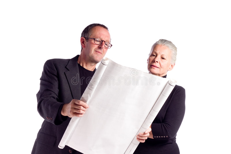 Mature business couple stock photography