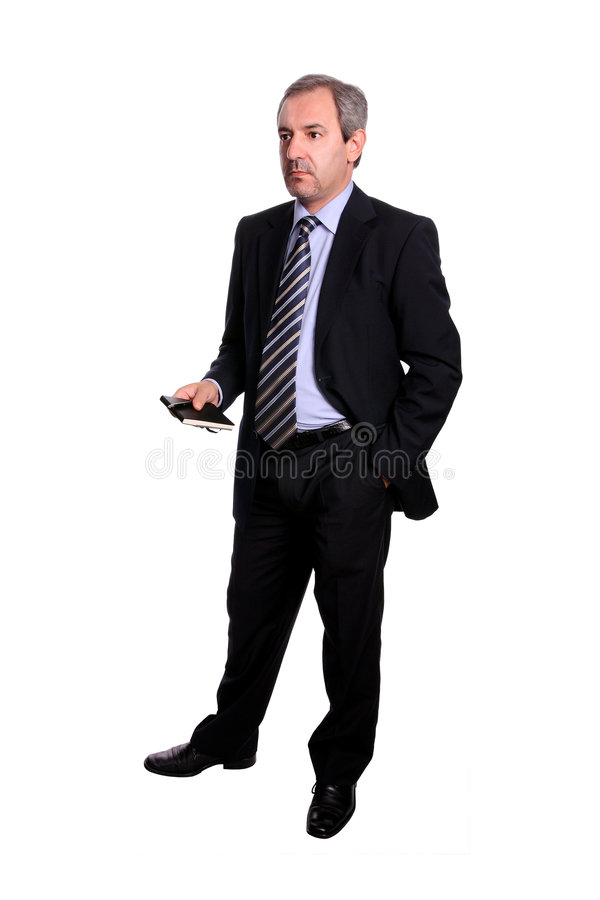 Mature business man - full body royalty free stock photography