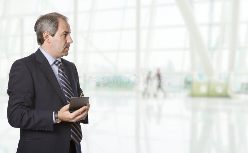 Mature business man royalty free stock image