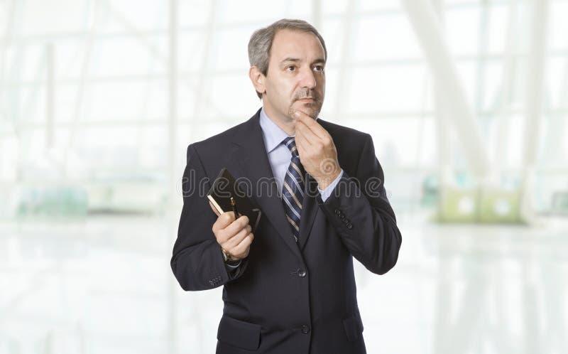 Mature business man stock photo