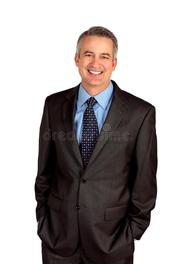 Mature business man. Portrait of a mature business man royalty free stock photography
