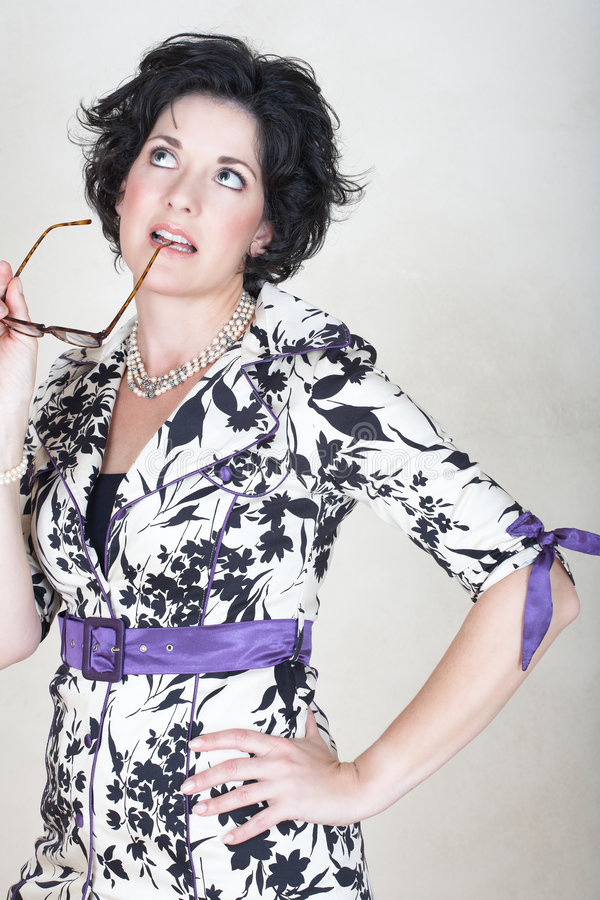 Mature business woman royalty free stock images