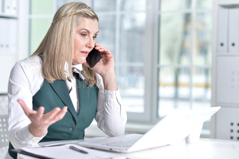 Mature business woman royalty free stock image