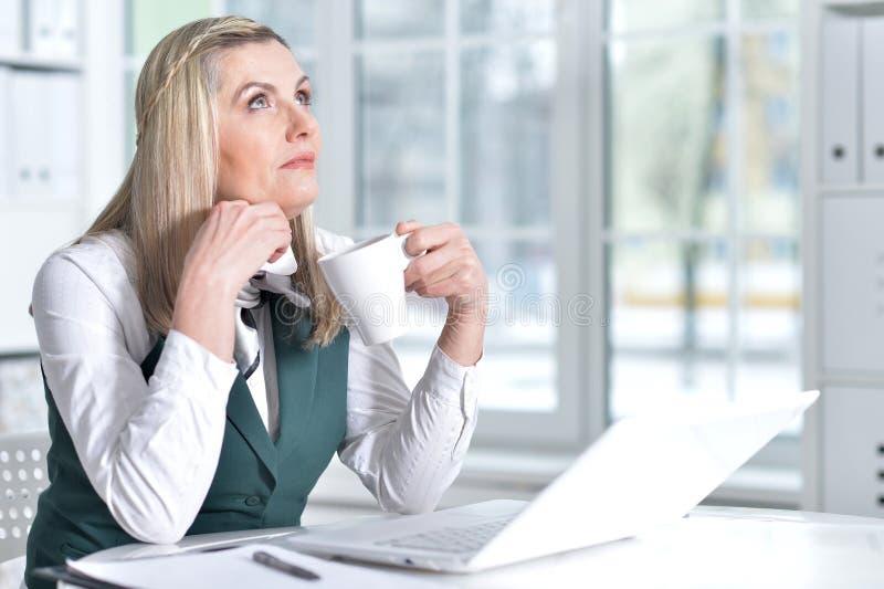 Mature business woman stock photo