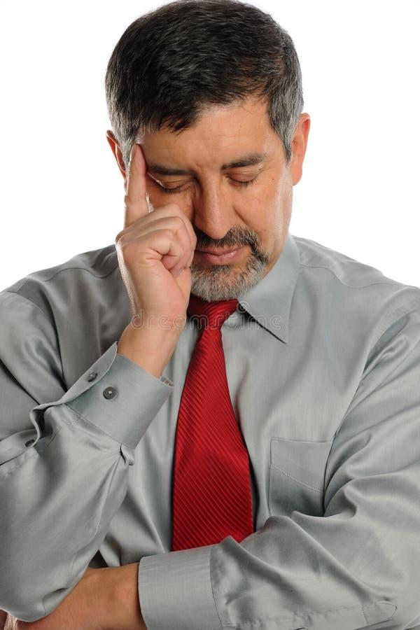 Mature Businessman stressed