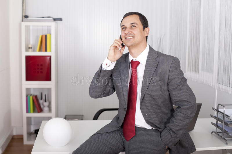 Download Mature Businessman Talking On The Phone Stock Photo - Image: 16111118