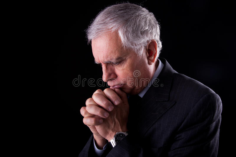 Download Mature Businessman, Thinking-praying Stock Image - Image: 18126321