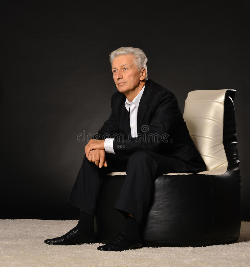 Mature businessman royalty free stock photography