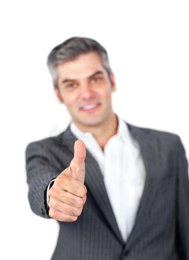 Download Mature Businessman With Thumb Up Stock Images - Image: 12618304