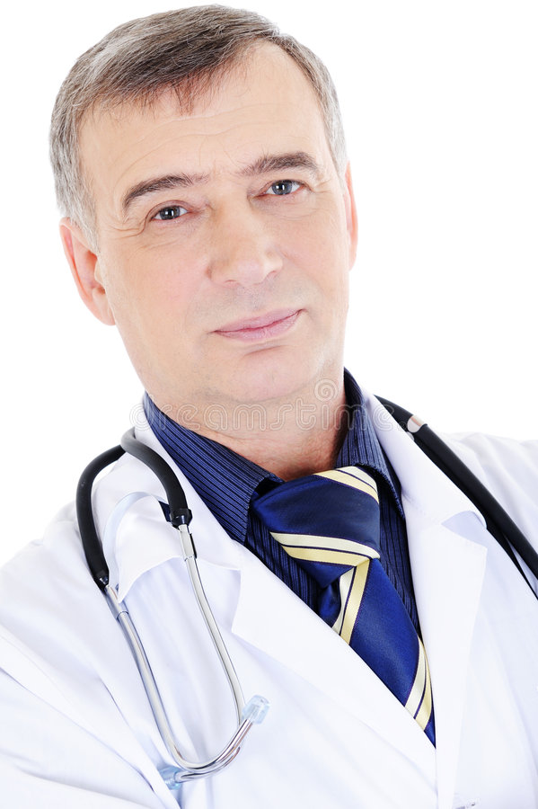 Download Mature candid male doctor stock photo. Image of portrait - 8629426