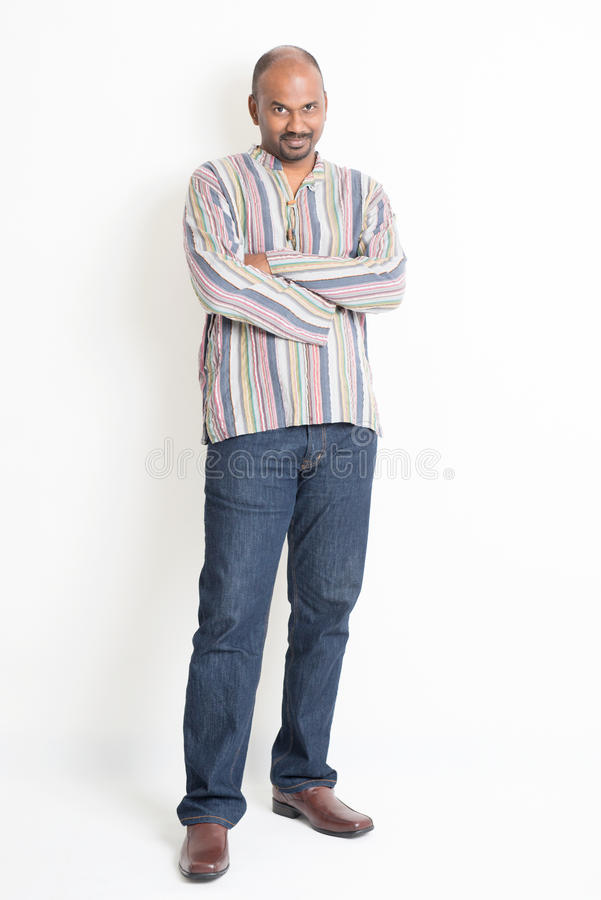 Mature casual Indian guy royalty free stock image