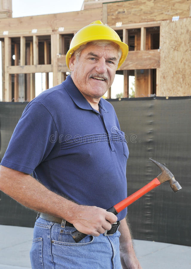 Mature Construction Worker stock image