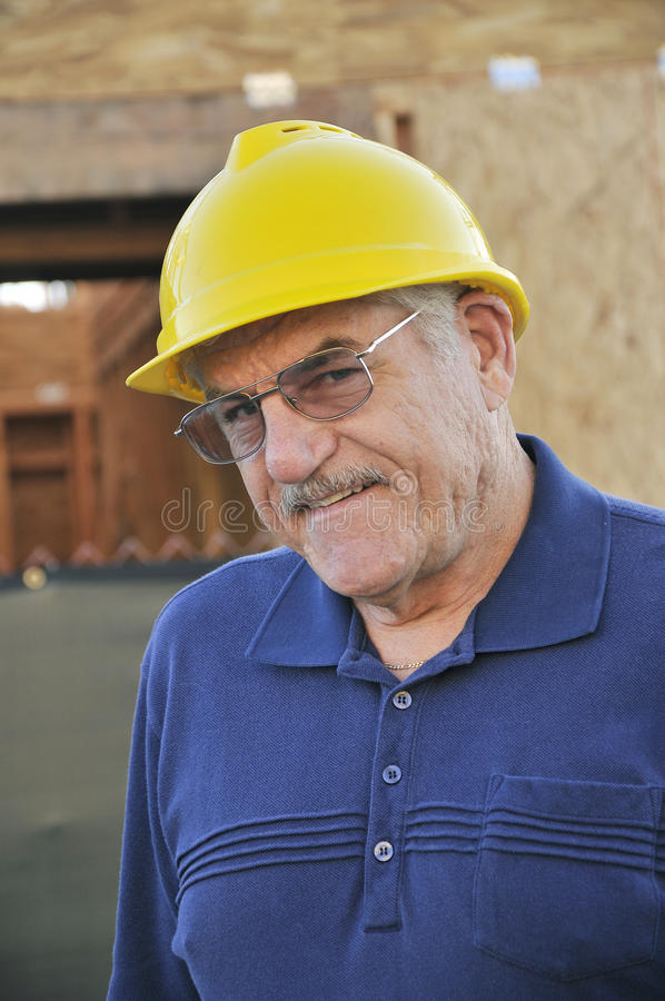Mature Construction Worker royalty free stock photos