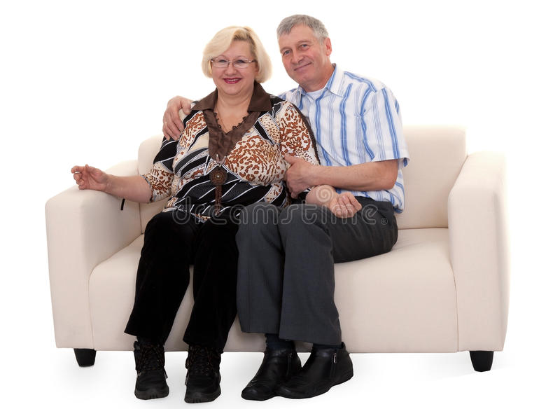 Download Mature couple stock photo. Image of life, couch, house - 17821014