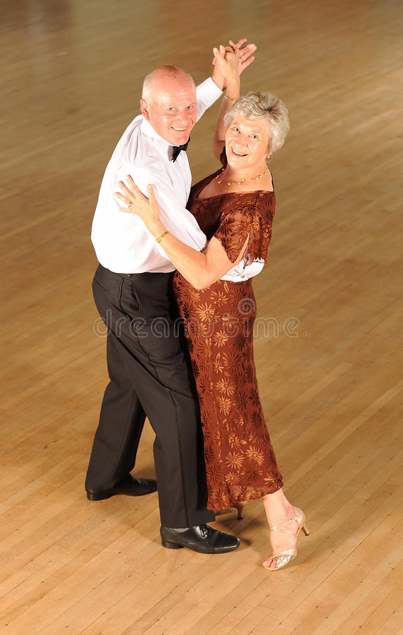 Mature Couple Ballroom Dancing stock photography