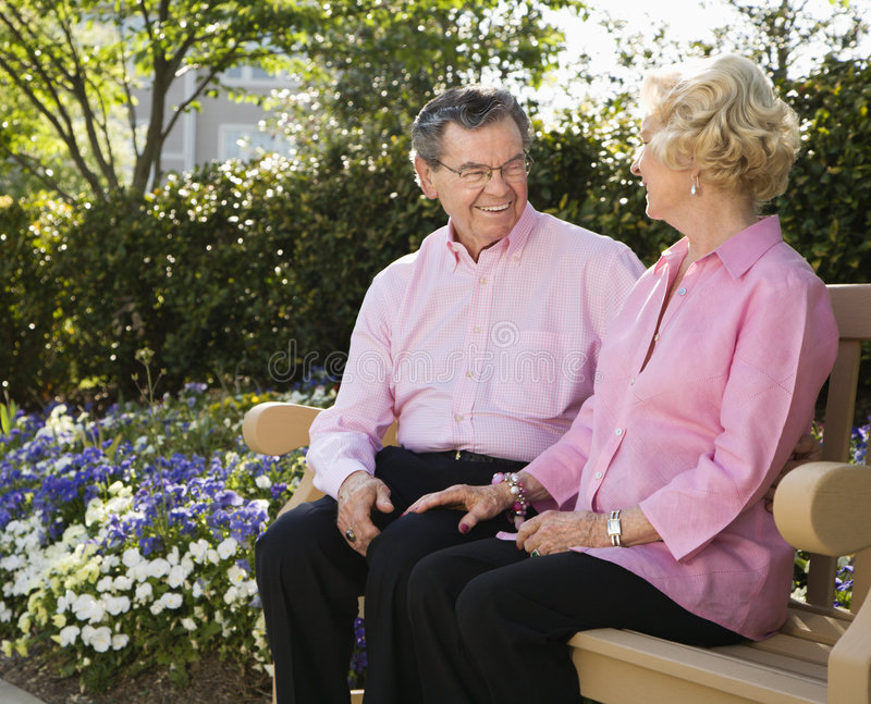 Download Mature couple on bench. stock image. Image of colour, 070430a0398 - 2848967