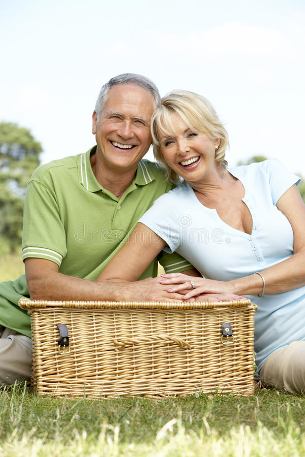 Download Mature Couple Having Picnic In Countryside Royalty Free Stock Images - Image: 10972039