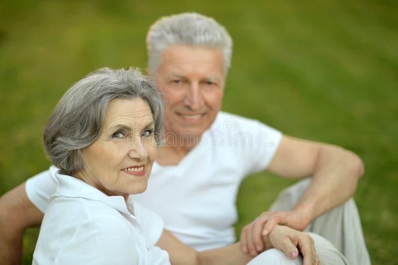 Mature couple in love. Travel, enjoy summer, posing outdoors stock photos
