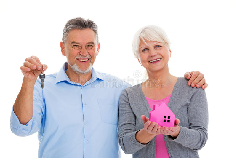 Mature couple moving house royalty free stock image