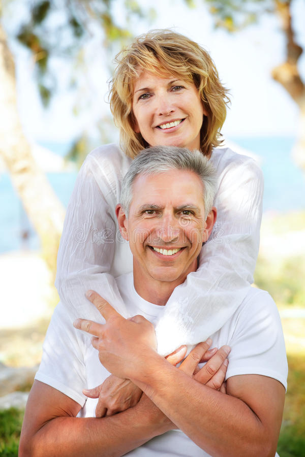 Mature Couple Smiling Royalty Free Stock Images