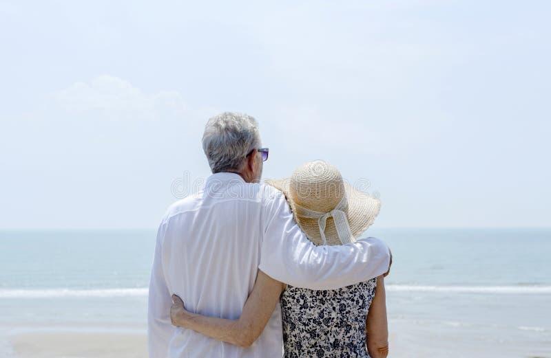 Mature couple vacationing at a resort royalty free stock image