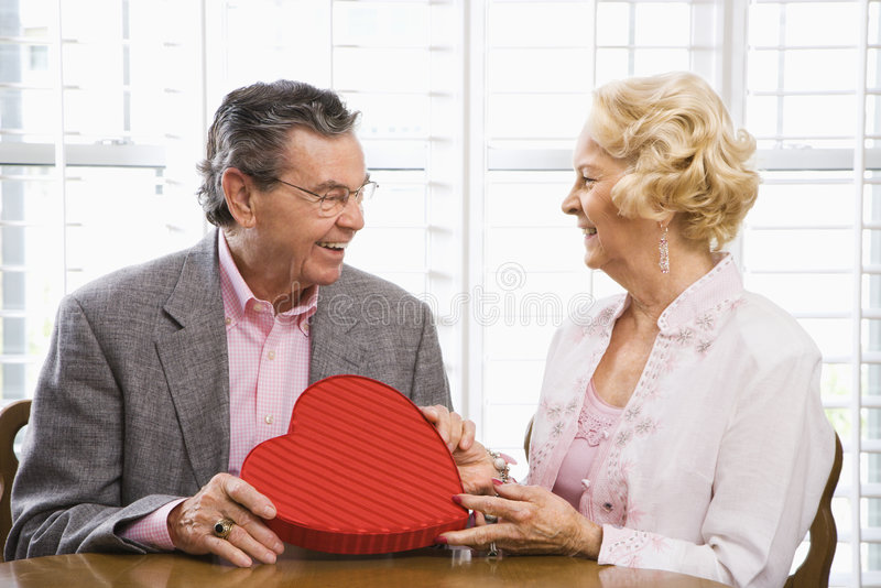 Mature couple with valentine. royalty free stock images