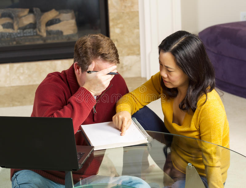 Download Mature Couple Working On Urgent Matter From Thier Home Stock Photo - Image of computer, face: 33856288