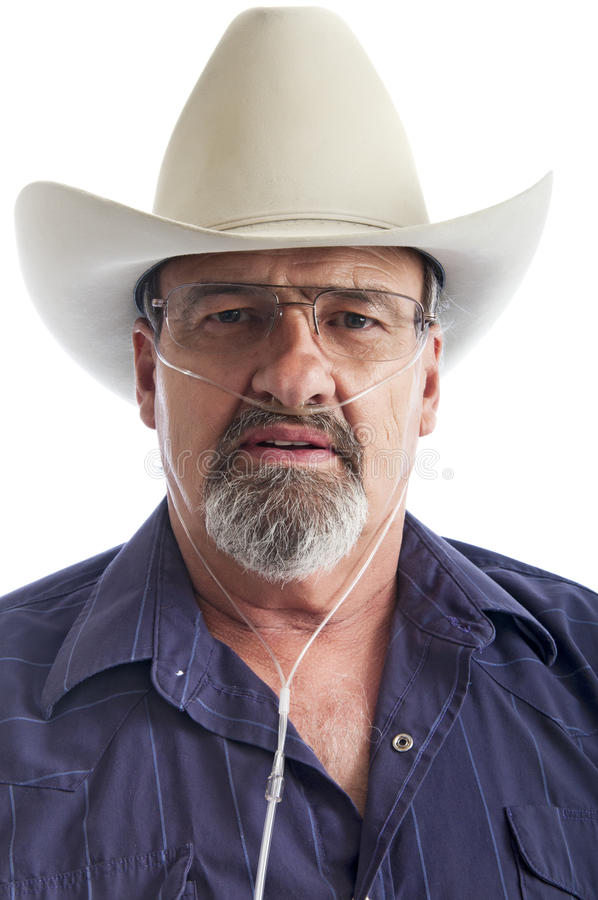Download Mature Cowboy With Breathing Disability Stock Photo - Image: 20151796